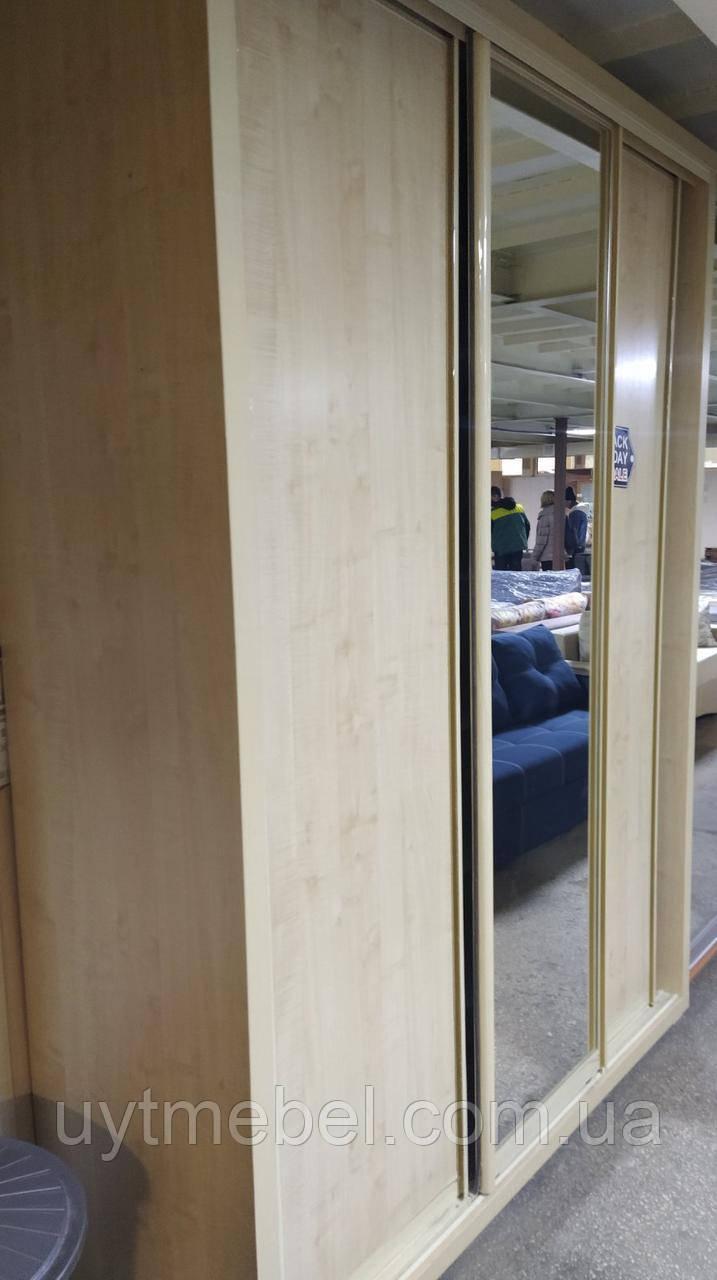 Шафа-купе 1800х600х2400 фасад Ф-580 доміно клен танзао (Панські меблі)