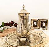Посеребренный английский заварочный чайник на ножках, кофейник серебрение, мельхиор, Англия, 1,2 литра, фото 6