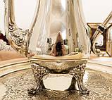 Посеребренный английский заварочный чайник на ножках, кофейник серебрение, мельхиор, Англия, 1,2 литра, фото 7