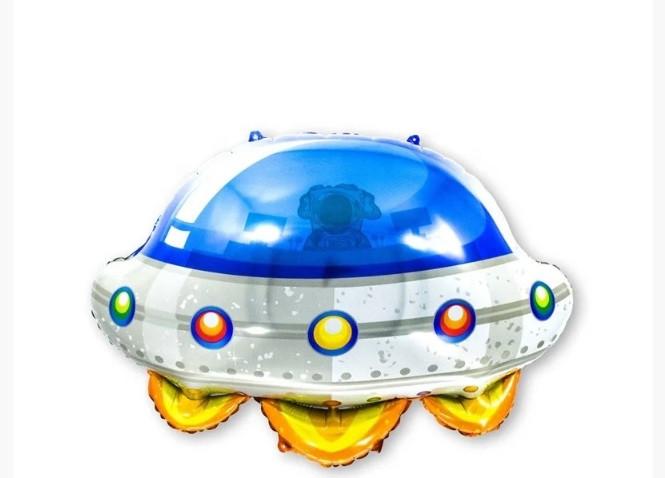 Фольгована кулька велика фігура Літаюча тарілка НЛО 55х57см