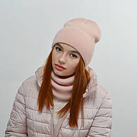 Комплект Nord Тереза шапка+снуд  персик