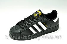 Кроссовки унисекс Adidas Superstar Originals Black White, фото 2