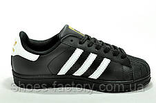 Кроссовки унисекс Adidas Superstar Originals Black White, фото 3