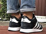 Темно-синие зимние кроссовки Adidas Iniki мужские  (ботинки в стиле адидас иники), фото 5