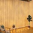 Гирлянда штора водопад 280 LED 2м/2м теплый цвет на прозрачном проводе, фото 3