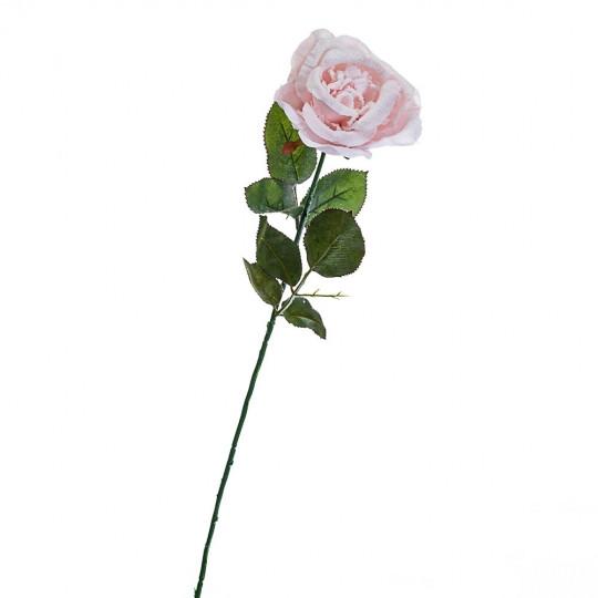 Новогодняя роза 74 см розовая