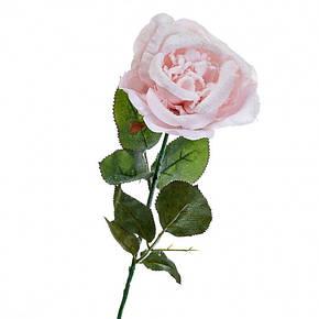 Новогодняя роза 74 см розовая, фото 2