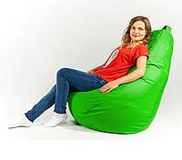 Кресло мешок пуфик груша зеленое XL 120х85 см