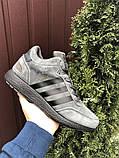 Зимние кроссовки Adidas Iniki мужские серые с черным (ботинки в стиле адидас иники), фото 4