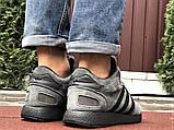 Зимние кроссовки Adidas Iniki мужские серые с черным (ботинки в стиле адидас иники), фото 2