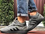 Зимние кроссовки Adidas Iniki мужские серые с черным (ботинки в стиле адидас иники), фото 3