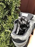 Зимние кроссовки Adidas Iniki мужские серые с черным (ботинки в стиле адидас иники), фото 6