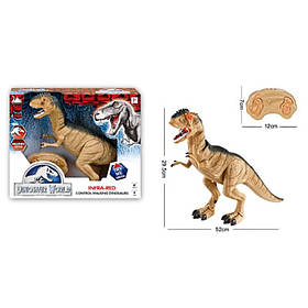 Динозавр д/у, 50см,звук,свет, ходит,подвиж. детали, на бат-ке, в кор-ке, 36-30,5-12см