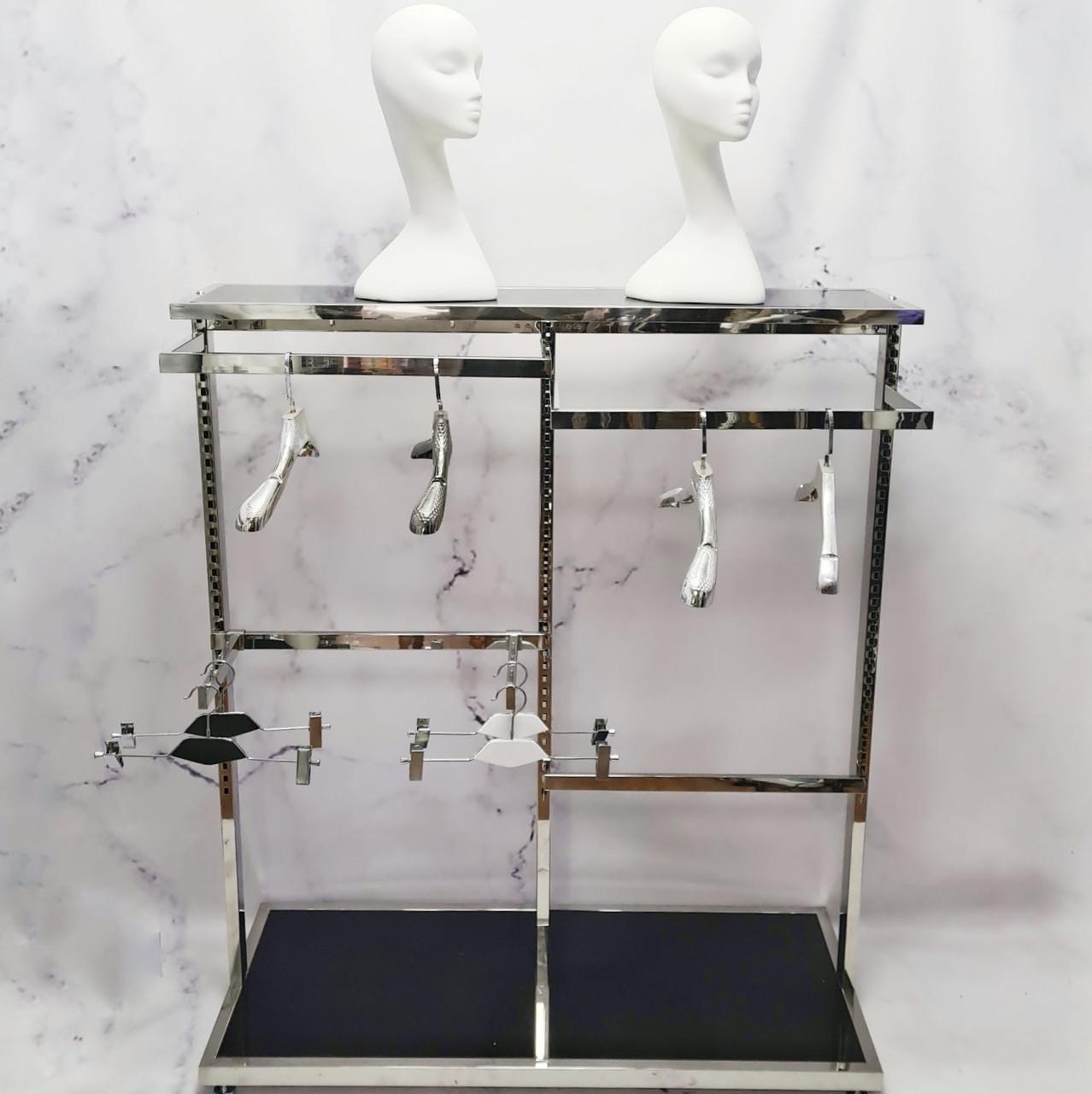 Торговая вешалка стойка напольная для магазина одежды, шоу-рума, торговое оборудование