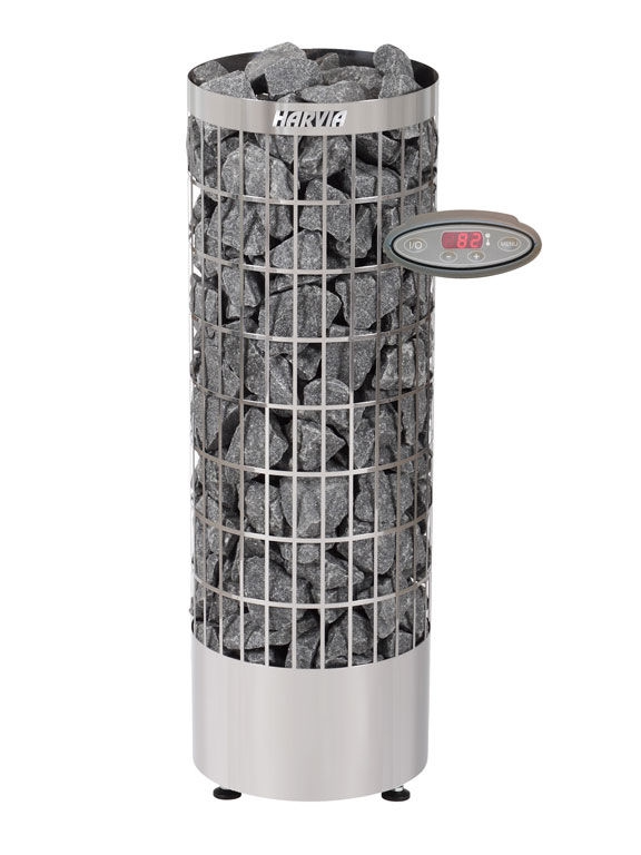 Электрокаменка Harvia Cilindro PC90EE steel 9 кВт вес камней 90 кг парная 14 м.куб с пультом