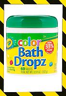 Crayola, Цвет, Bath Dropz, 60 таблеток для окрашивания воды. США
