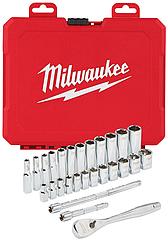 Набор метрических и дюймовых головок Milwaukee 28 шт (4932464943)