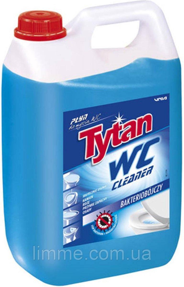 Засіб для миття туалетів та видалення накипу Tytan WC Морська свіжість антибактеріальний (синій) 5 л.