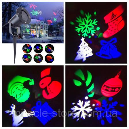 Уличный светодиодный лазерный проектор Festival Projection Lamp новогодние фигуры, фото 2