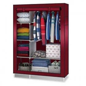 Тканинній шафа HCX Storage Wardrobe на 6 секцій Бордовий КОД: 258537