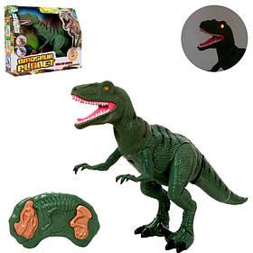 Динозавр д/у, 52см, звук, свет,ходит, двигает головой и челюстью,на бат,в кор-ке, 37-31-12см