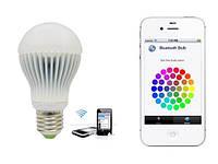 Умная лампочка – осветительное led-устройство RGBW, Bluetooth модуль, цоколь Е27