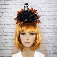 Украшение на голову Хэллоуин Морена с фатой 8950-013