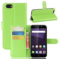 Чехол Luxury для ZTE Blade A6 Lite книжка зеленый