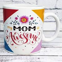 ПРИКОЛЬНЫЕ КРУЖКИ оригинальная кружка Лучшая мама на свете Awesome Mom