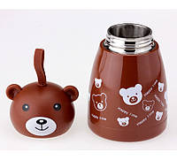 Термосы со скидкой для чая большой Мишка веселый, коричневый цвет