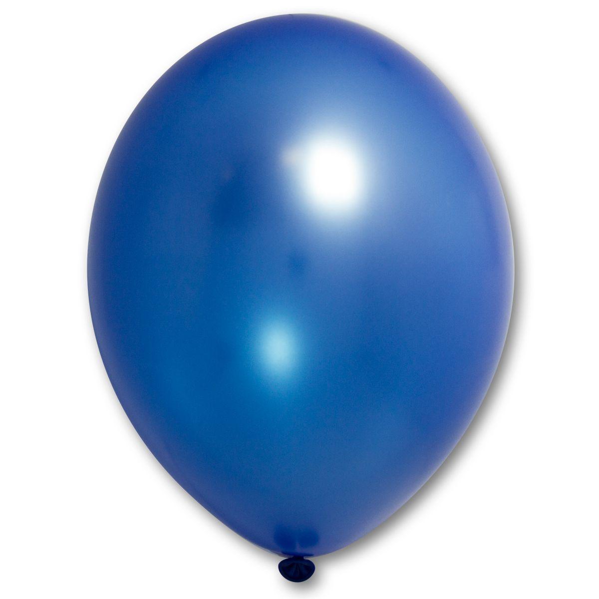 """Кулька 12""""/30 синій 065 латекс металік ТМ """"Belbal"""" однотонний шт."""