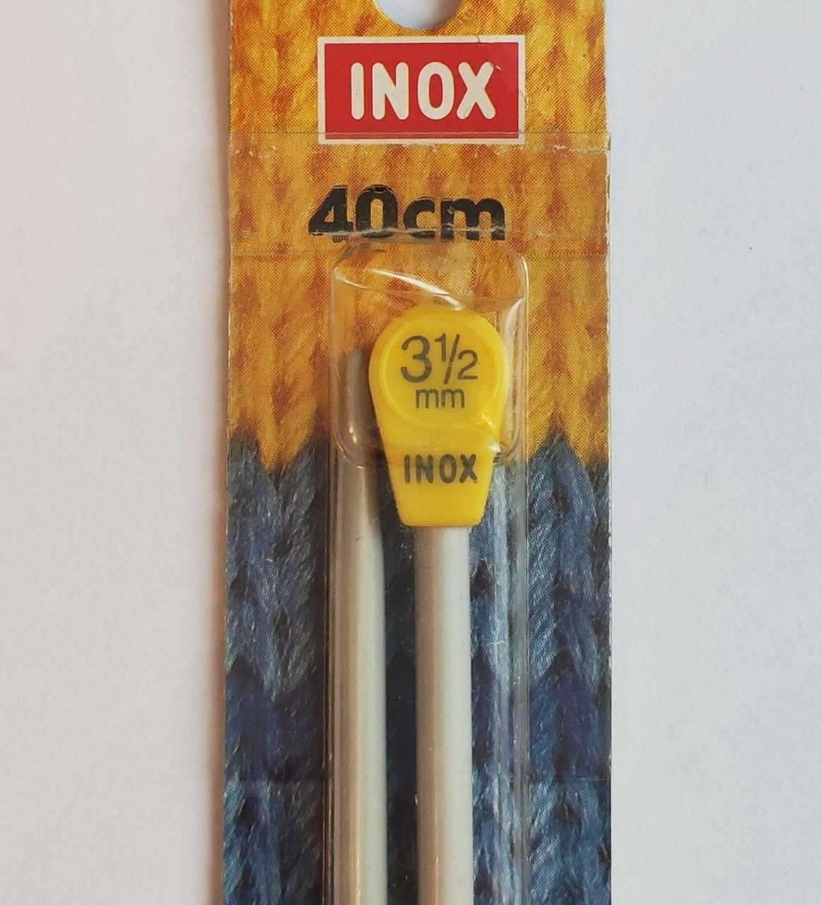 Спицы прямые 40 см 2,5; 3,5 мм