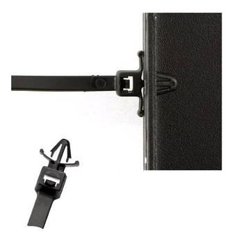 Кабельна Стяжка з монтажною головкою 5х130 (4,8х130мм) чорна, фото 2