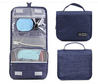 Дорожный органайзер для косметики Travel wash bag. Синий.