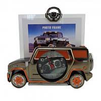 Фоторамка с часами Машина оригинальные подарки необычные прикольные красивые сувениры