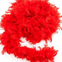 Боа из перьев 80г (красное)