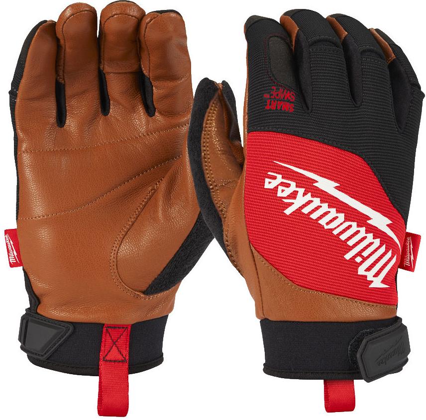 Перчатки Milwaukee с кожаными вставками, 10 / XL (4932471914)