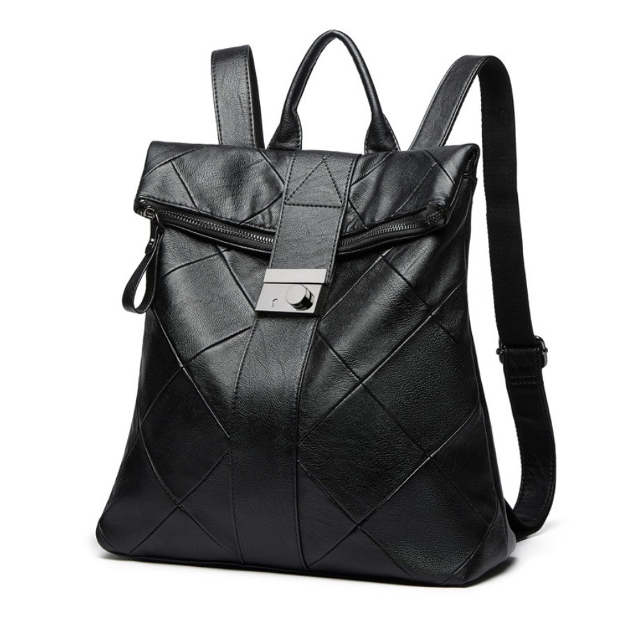 Рюкзак жіночий міський rolltop Макрос B515 15л чорний