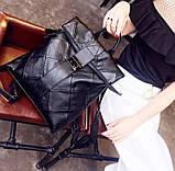 Рюкзак жіночий міський rolltop Макрос B515 15л чорний, фото 2