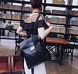 Рюкзак жіночий міський rolltop Макрос B515 15л чорний, фото 3