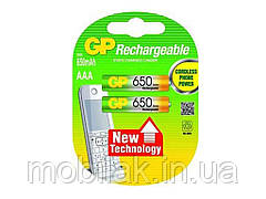 Акумулятори Rechargeabl AAA HR03 Ni-MH 650mAh 1.2V 2шт.блістер ТМ GP