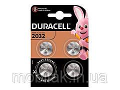 Батарейка літієва 3V 2032 4 шт. ТМ DURACELL