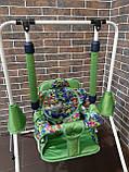 Качель детская напольная зеленая, фото 2