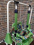 Качель детская напольная зеленая, фото 3