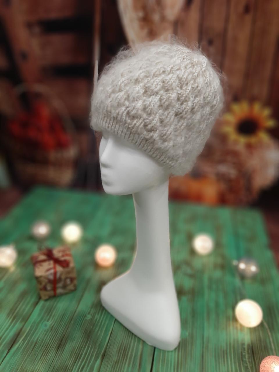 Пуховая шапка