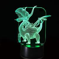 3D Светильник Дракон 16-1