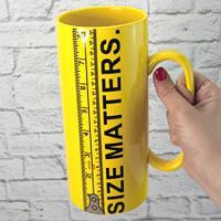 ПРИКОЛЬНЫЕ КРУЖКИ оригинальная кружка Гигант Size Matters 20cм (1л)