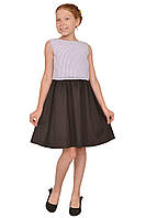"""Платье  для девочки с рукавом   М -1158 рост от 128 до 158 размера тм """"Попелюшка"""", фото 1"""