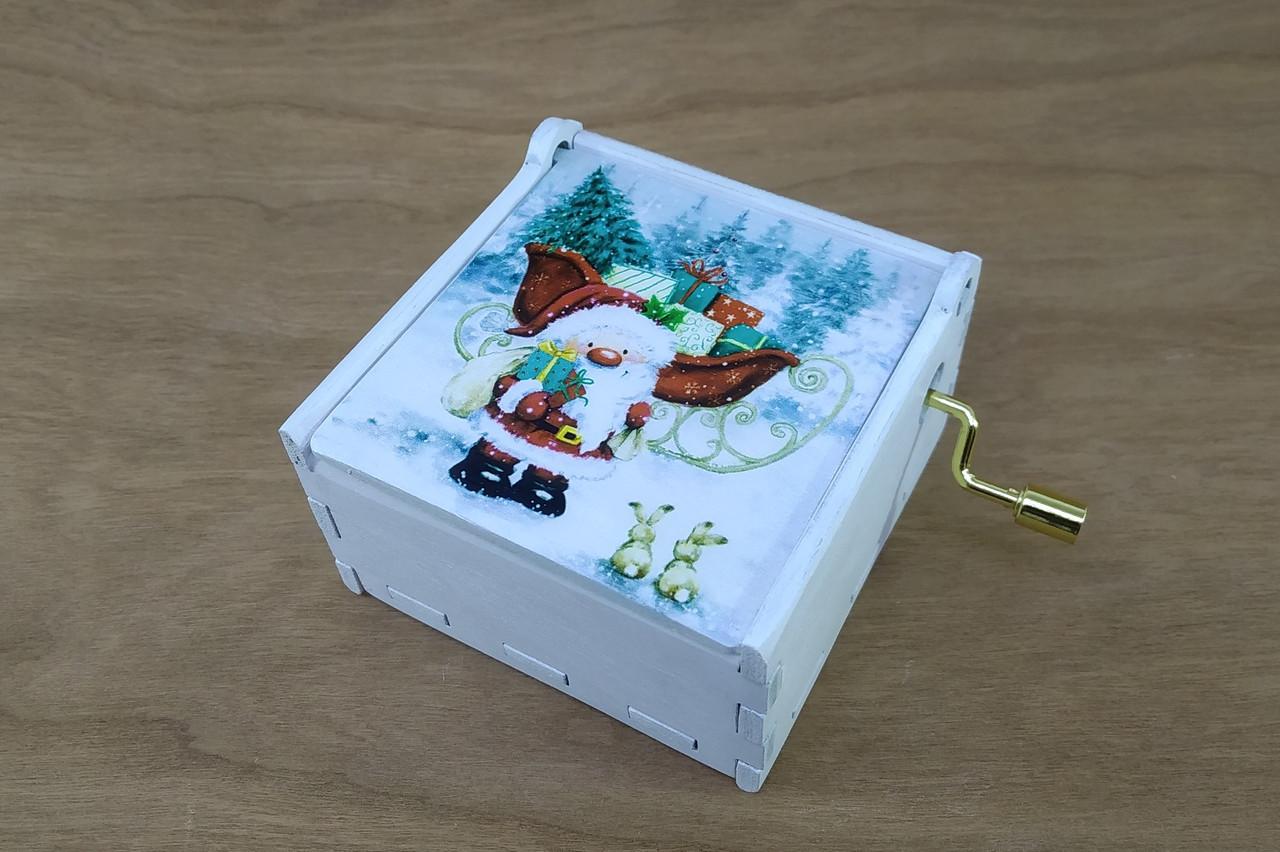 Музыкальная шкатулка Jingle Bells с красочным новогодним рисунком