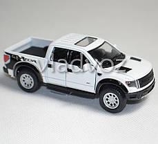 Машинка Ford Raptor Spercrew 150 1:32 метал белый, фото 2